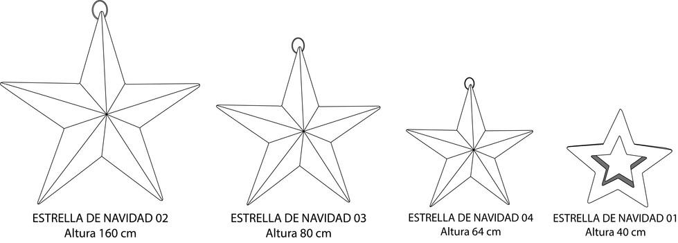 ESCALA DE ESTRELLAS NAVIDEÑAS