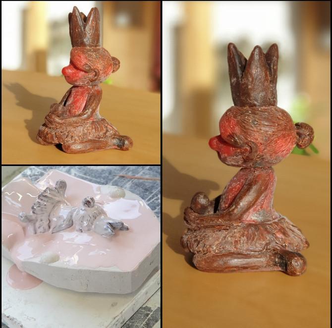 Die Maus ist jetzt in Worpswede in der weltbesten Bronzegießerei (Nina Rieke) zum Abformen...