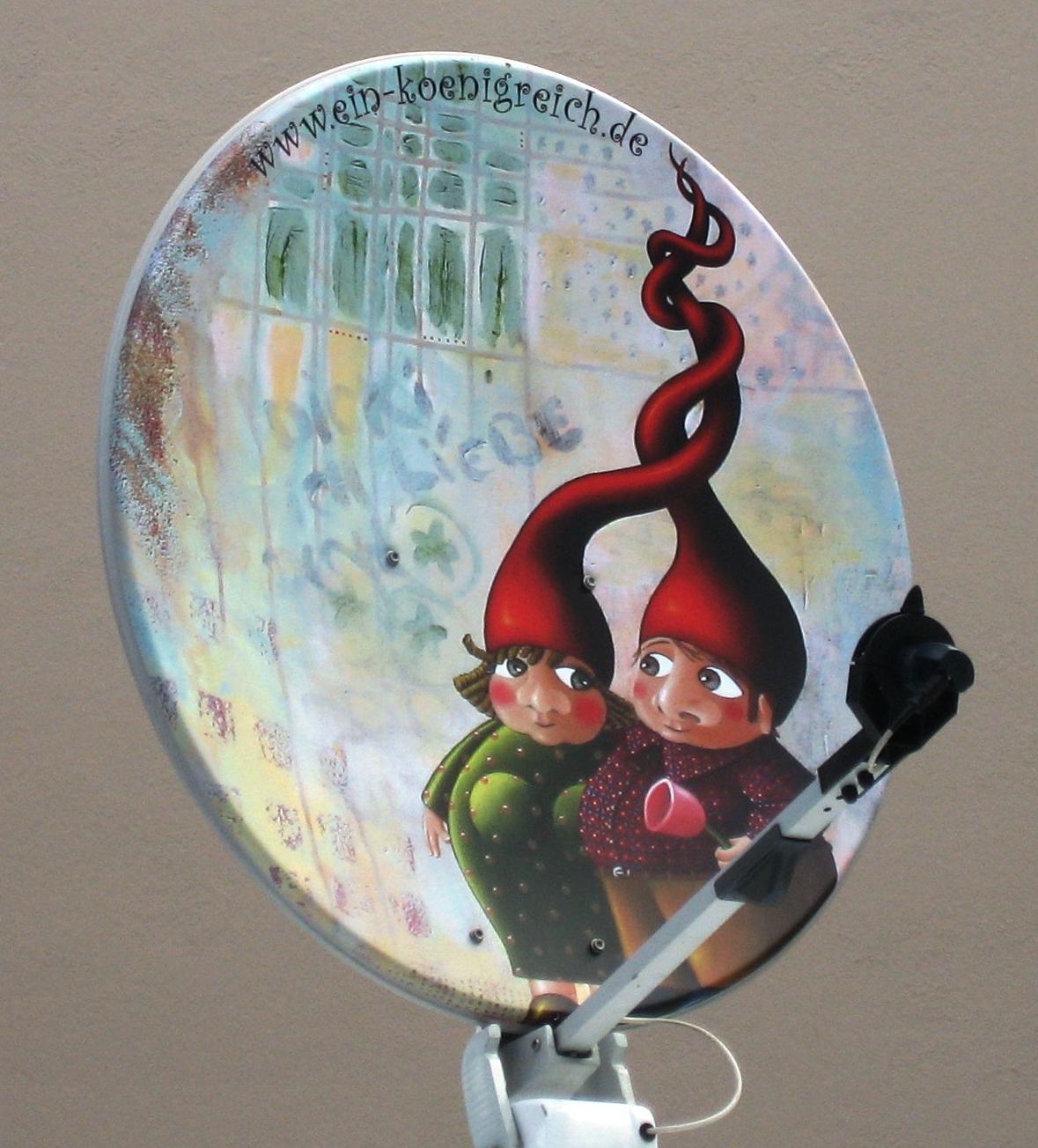 """Glockenblume"" Satellitenschüssel"