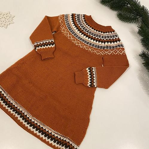 Mønstret kjole 6 år