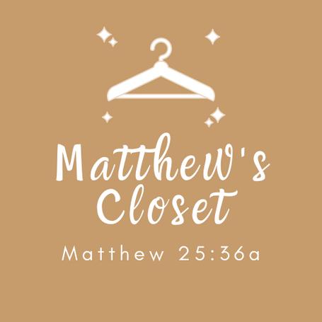 Matthew's Closet