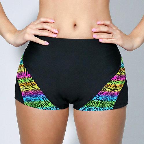 "2"" Inseam Shorts - Rainbow Cheetah"