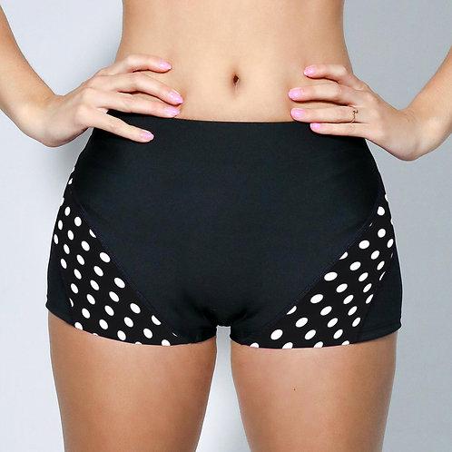"2"" Inseam Shorts - BW Polka Dots"
