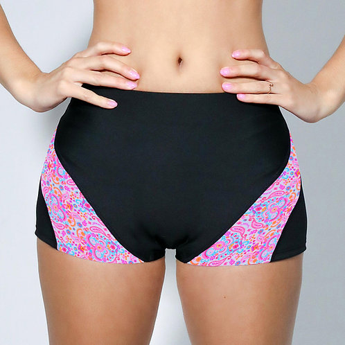 "2"" Inseam Shorts - Neon Paisley"
