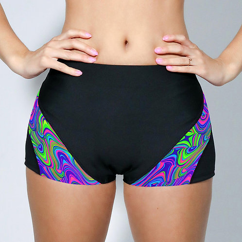 """2"""" Inseam Shorts - Neon Psychedelic"""