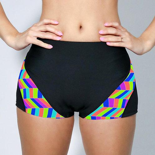 "2"" Inseam Shorts - Neon Chevron"