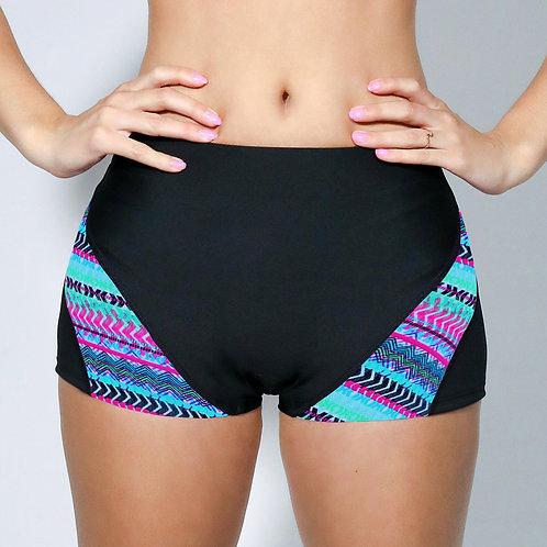 "2"" Inseam Shorts - Neon Aztec Chevron"
