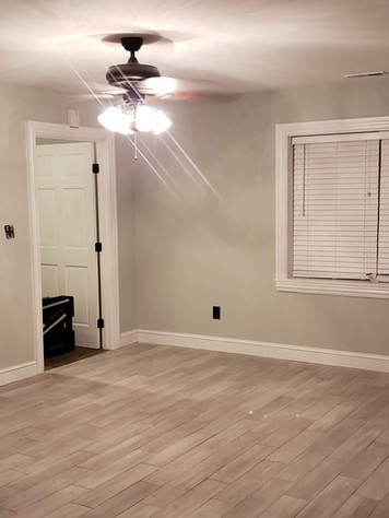 Wall Mounted TV, Flooring, Blinds, Ceiling Fan Installation