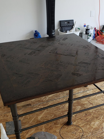 Refinished Wormy Pine Coffee Table