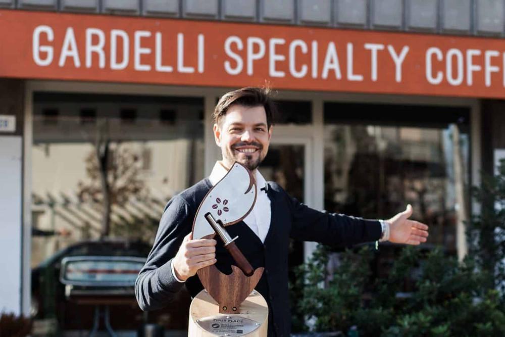 Rubens Gardelli, campione del mondo di tostatura nel 2017