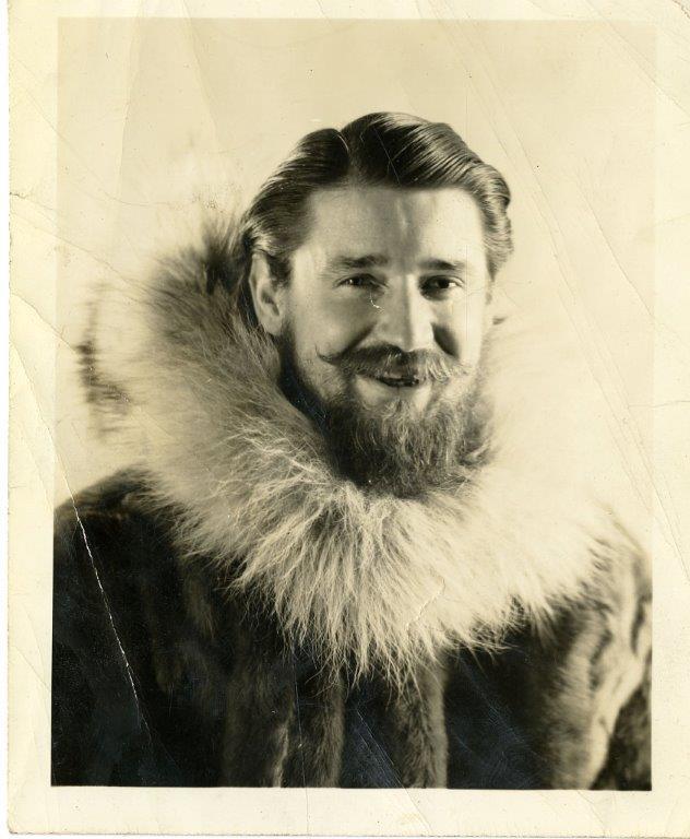 Foto di E.Lockhart nella spedizione in Antardide prima di entrare al CBI