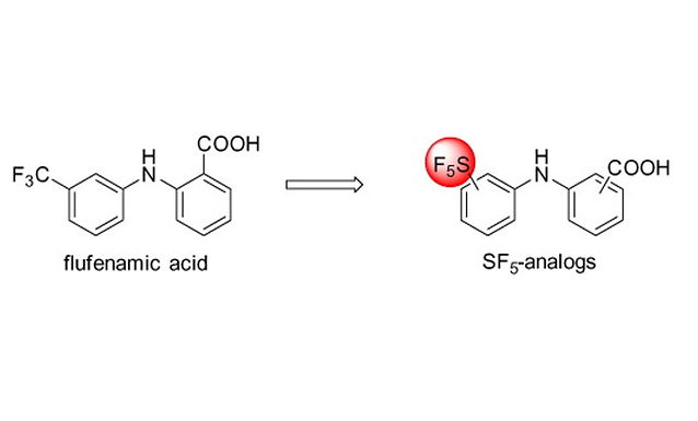 """<p class=""""font_8""""><strong>Pentafluorosulfanyl-containing flufenamic acid analogs: Syntheses, properties and biological activities</strong></p>"""