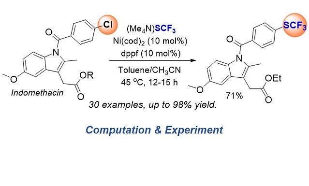 """<p class=""""font_8""""><strong>Fundamental Studies and Development of Nickel-Catalyzed Trifluoromethylthiolation of Aryl Chlorides: Active Catalytic Species and Key Roles of Ligand and Traceless MeCN Additive Revealed</strong></p>"""