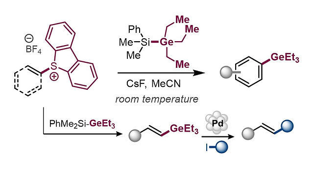 """<p class=""""font_8""""><strong>Transition-Metal-Free, Formal C–H Germylation of Arenes and Styrenes via Dibenzothiophenium Salts</strong></p>"""