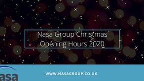 Nasa Group opening hours this Festive period - 2020