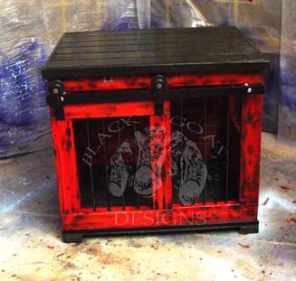 Red Barn Door Crate