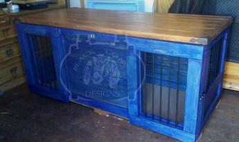 Blue Glide Door