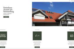 Website Ferienhaus Auszeit am Sommerberg