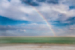 Rainbow at Bonneville Salt Flats International Speedway