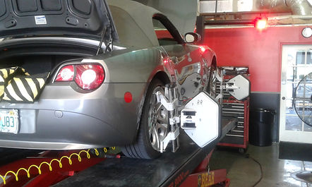 Z4 Wheel Alignment using sandbags @ All German Motorworks