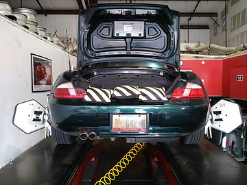 Z3 Wheel Alignment using sandbags @ All German Motorworks