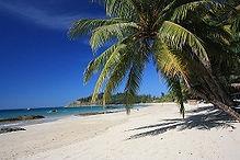 Strandurlaub, Badeferien, am Strand von Ngapali, Bengalische Bucht, Bay of Bengal, Myanmar
