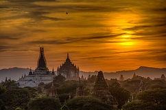Bagan temples at dawn