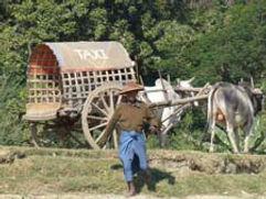 Ava, In-wa, Pferdekutsche, Bagayar Kloster, der schiefe Turm von Ava