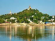 Sagaing Hügel, Sagaing Hill in Myanmar, Burma