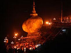 Myanmar Goldener Felsen Fest