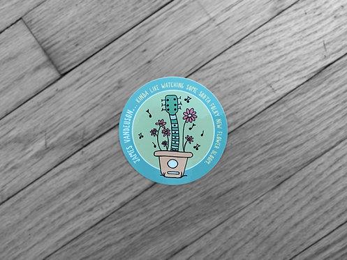 """Sticker #2 """"One Folky Little Flower"""""""