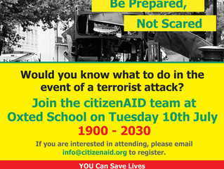 citizenAID Helps Oxted Residents Be Prepared, Not Scared