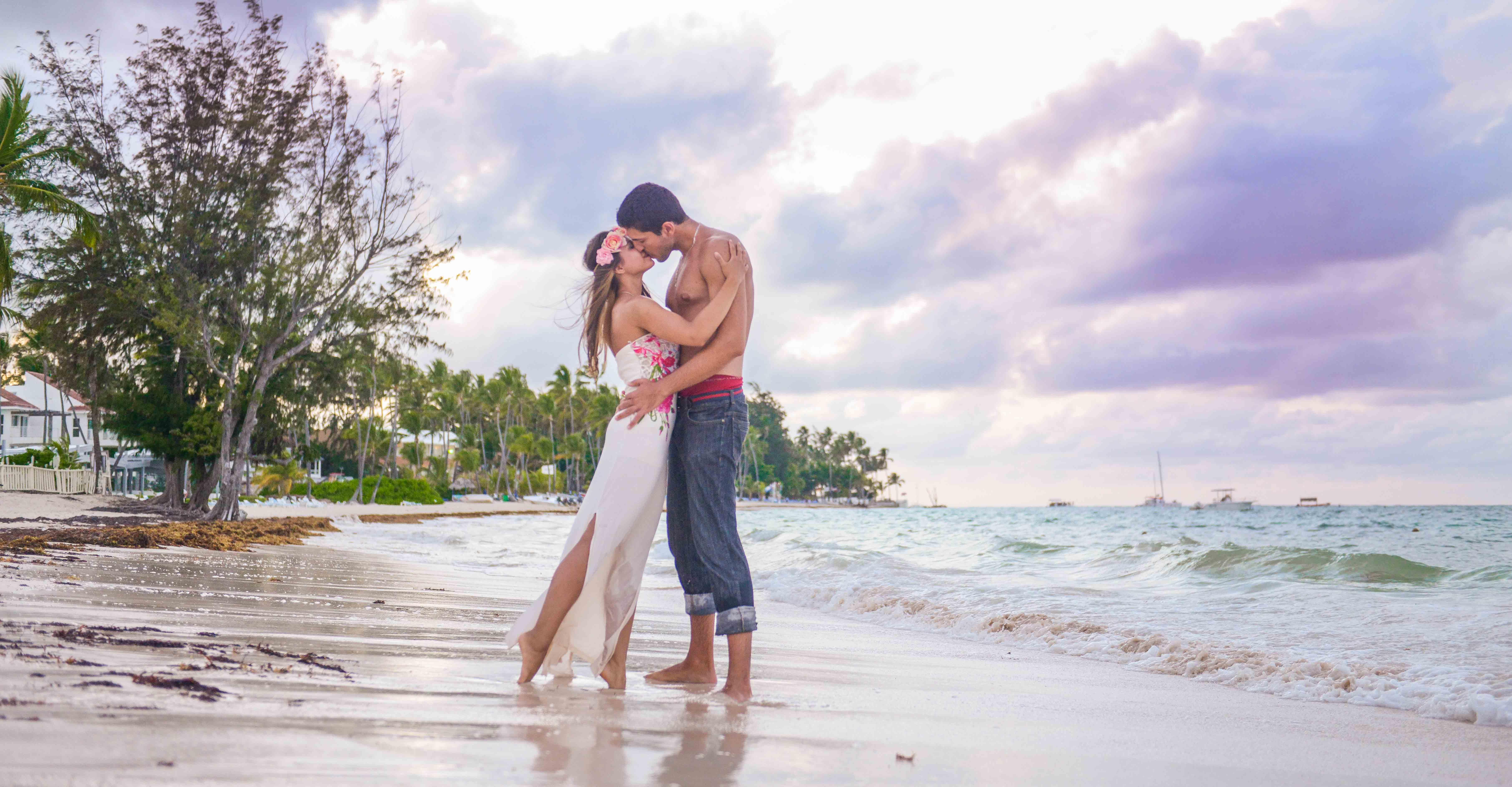 Sesion de fotos de boda en Punta Can