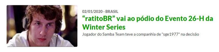 """Rafael """"ratitoBR"""" Eltz sobe ao pódio do Evento 26-H da Winter Series"""