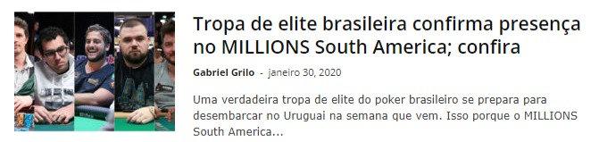 Tropa de elite brasileira confirma presença no MILLIONS South America