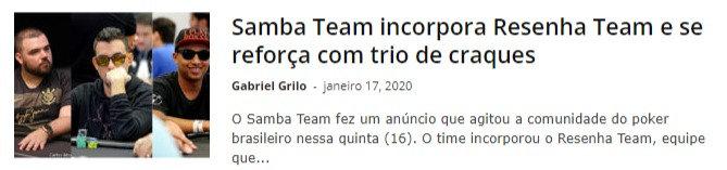 Samba Team incorpora Resenha Team e se reforça com trio de craques
