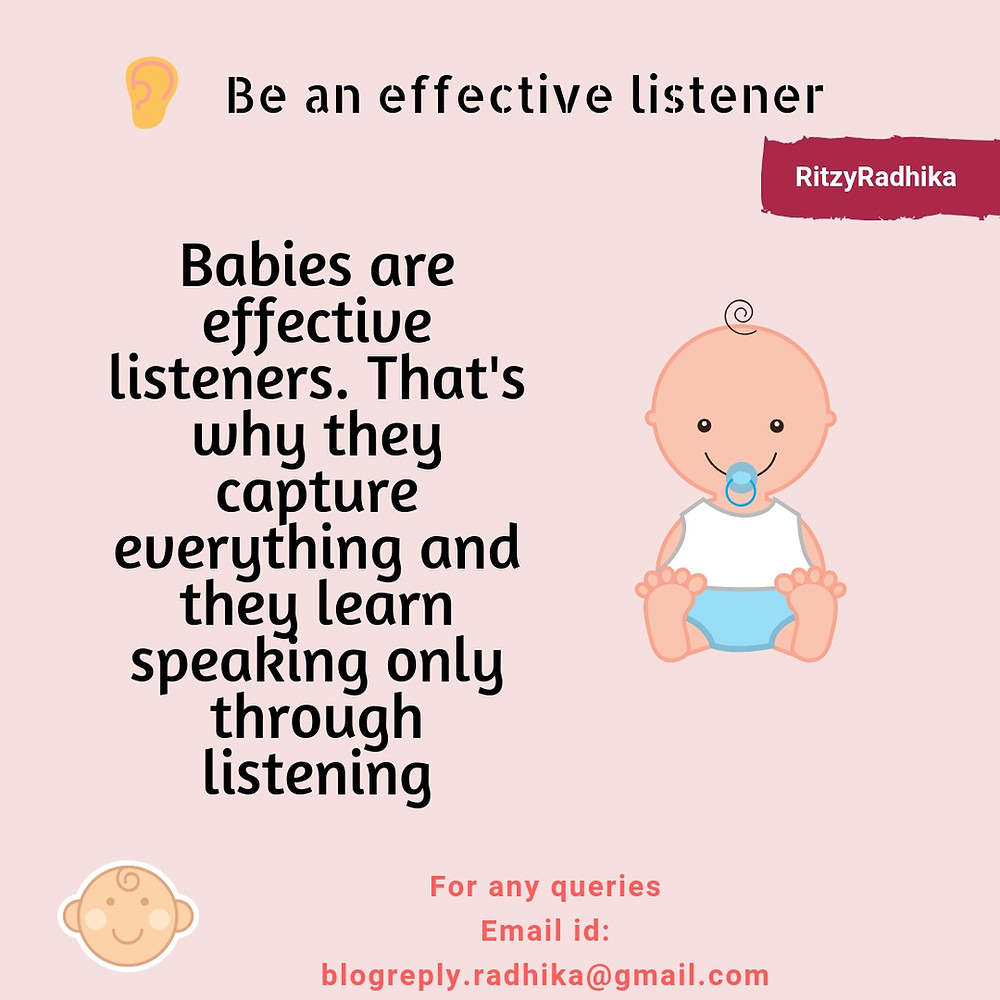 Effective listener, Listening skills, Personality development, Listening