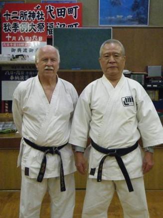 Sensei Peter Bayliss and Kancho Iba Himeji 2018