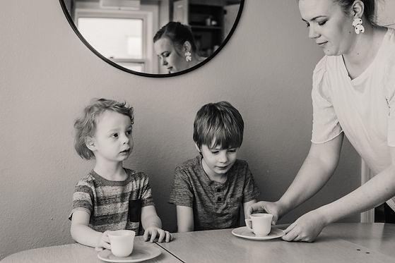 in-home family photos lifestyle session Minneapolis