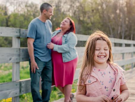 Evening Family Photos in Elm Creek: Brenda & Keith