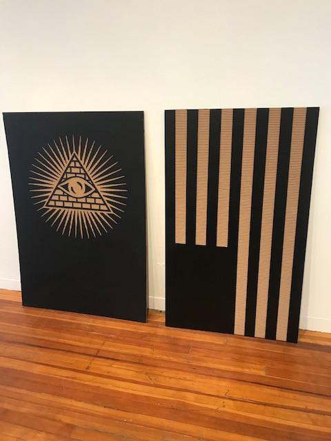 Illuminati and ɐɔıɹǝɯɐ by David Borawski
