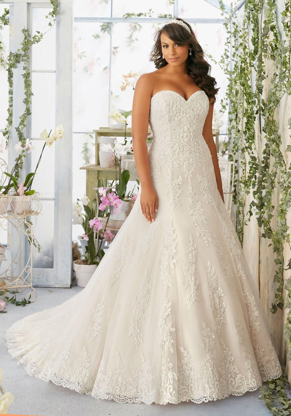 Plus size wedding gown at Amour Bridal Austin Texas