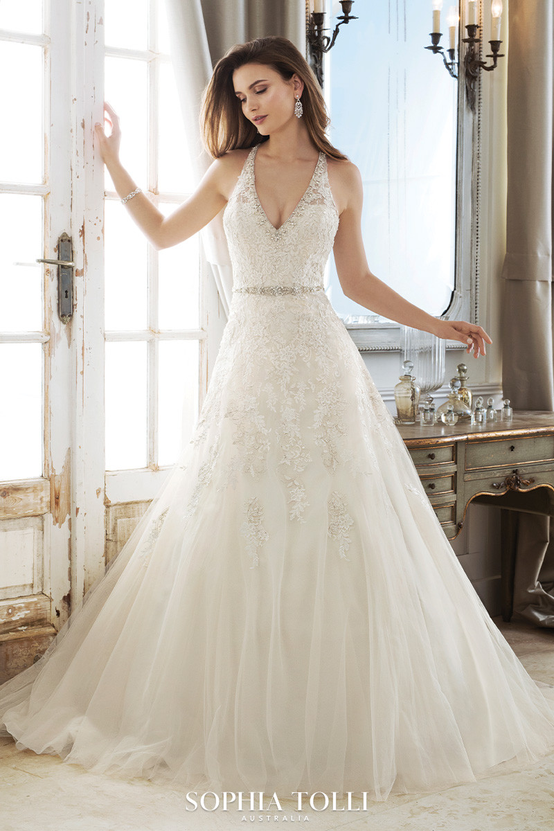 Discounted affordable plus size wedding dress at Amour bridal in Cedar Park, TX