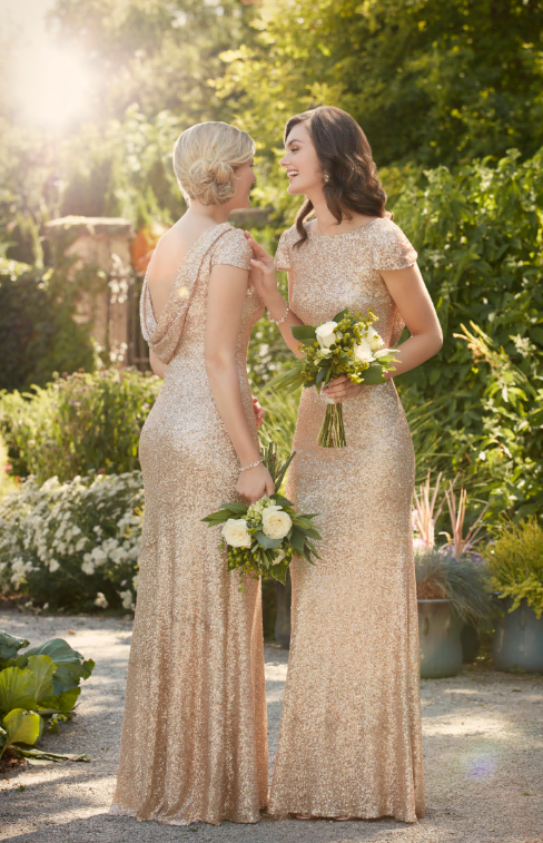 Sorella Vita Gold Bridesmaids dresses