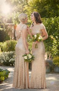 Sorella Vita Gold Bridesmaids dresses