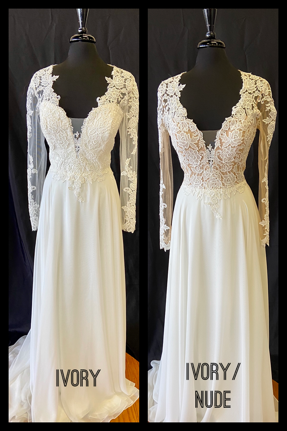 Wedding dress with lace sleeves Austin, TX
