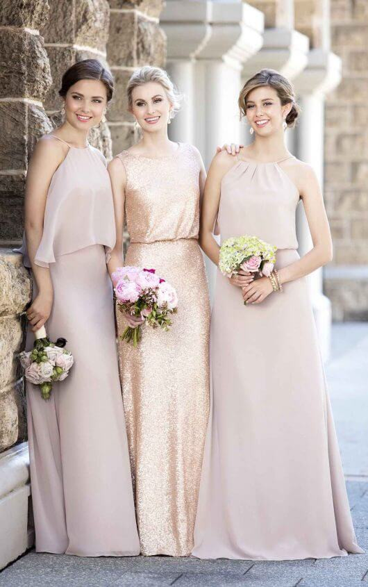 Mix it up with different bridesmaids styles from Sorella Vita
