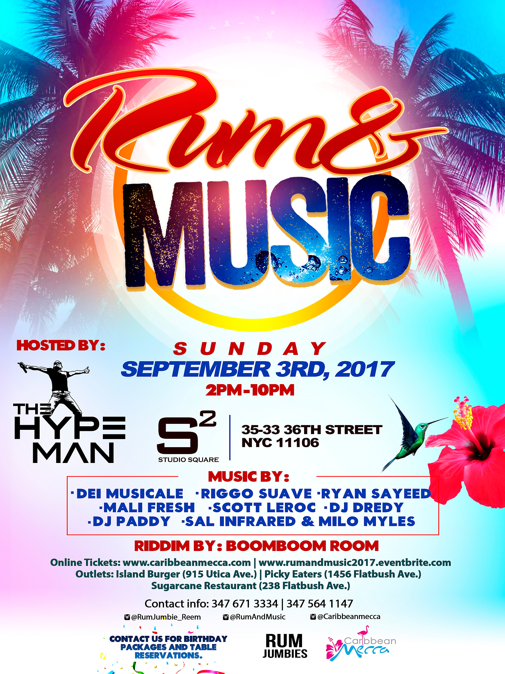 Labor Day Sunday 2017 - RUM AND MUSIC Tickets, Sun, Sep 3, 2017 at ...