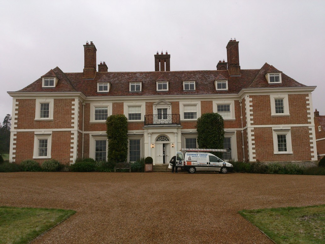 Chimney Sweep at a manor house