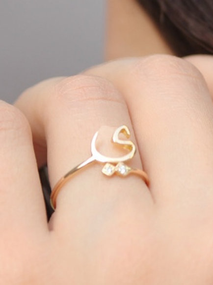 Minimalist Letter Ring